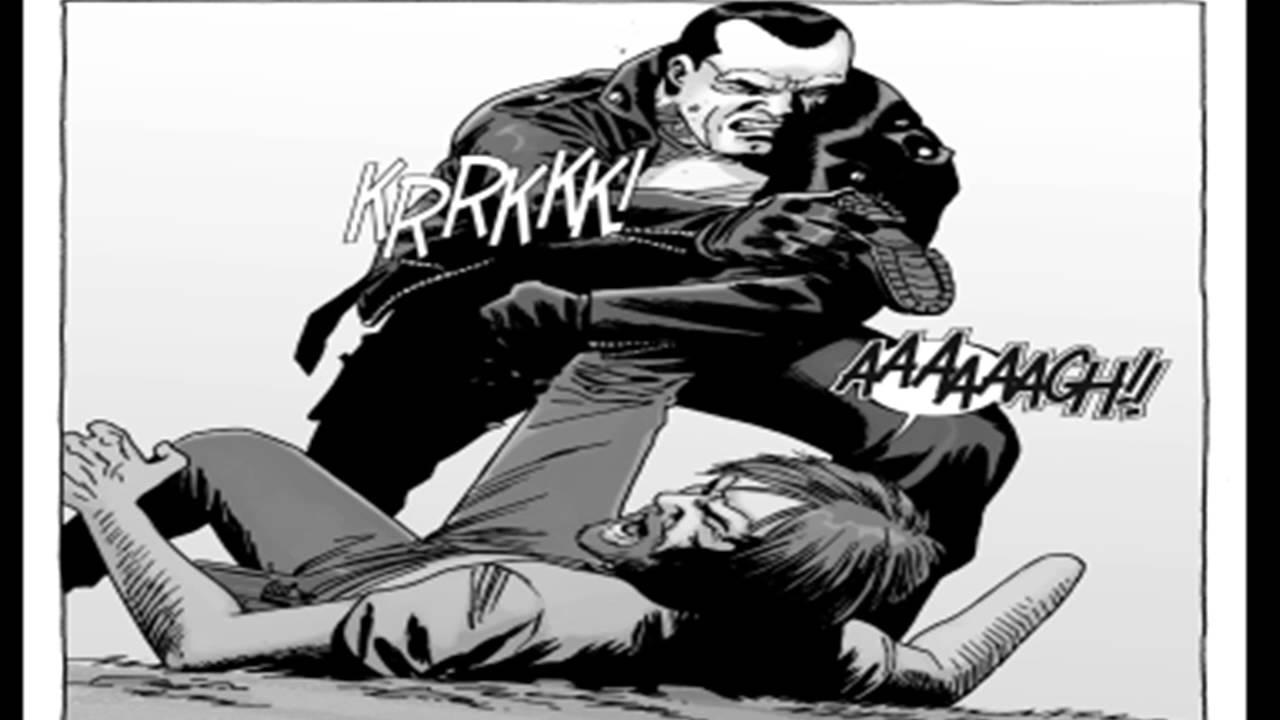 Walking dead comic rick death