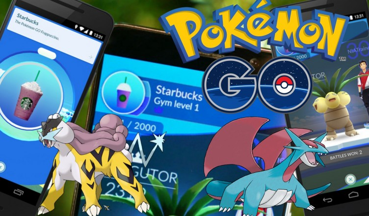pokemon go multicolor y starbucks